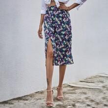 Faldas Abertura alta Floral Bohemio