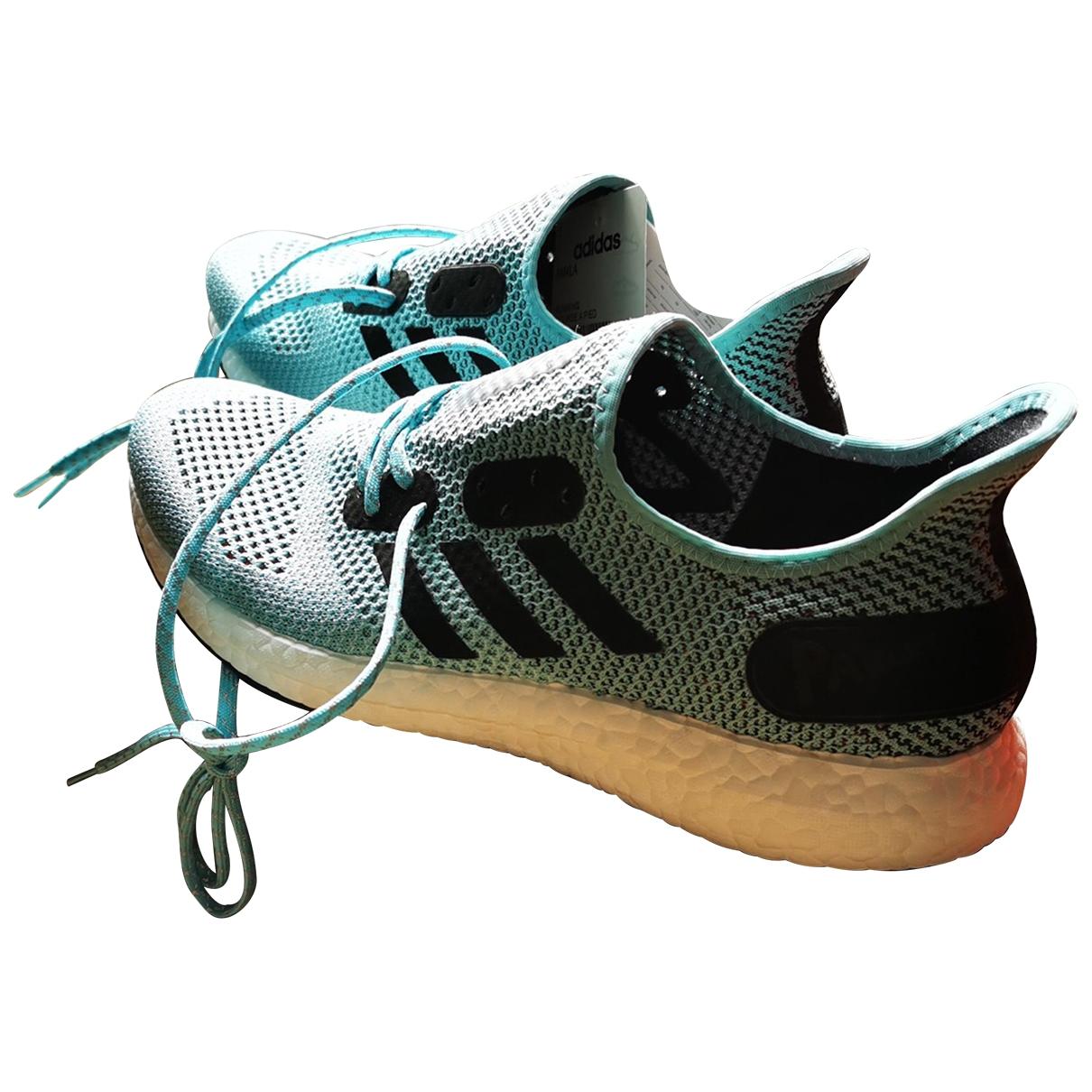 Adidas - Baskets   pour homme en toile - bleu