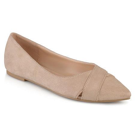 Journee Collection Womens Winslo Ballet Flats, 9 Medium, Brown