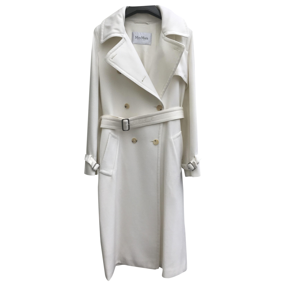 Max Mara \N Trench in  Weiss Wolle