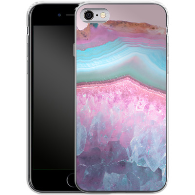 Apple iPhone 6s Silikon Handyhuelle - Serenity Rose Quartz Agate von Emanuela Carratoni