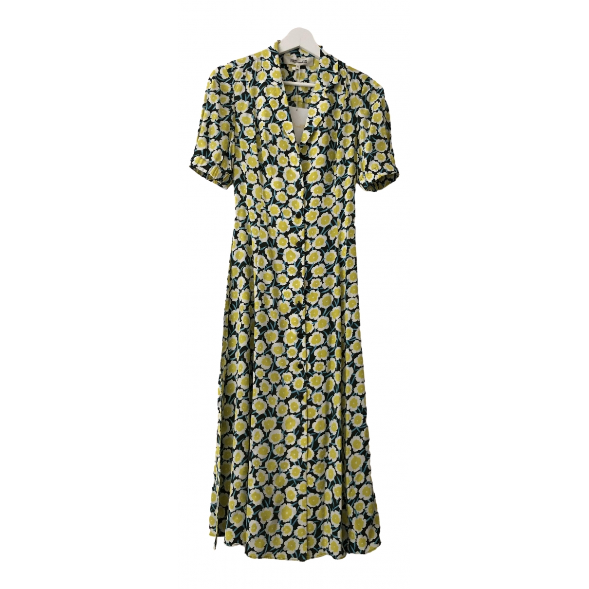 Diane Von Furstenberg \N Yellow Silk dress for Women 4 UK