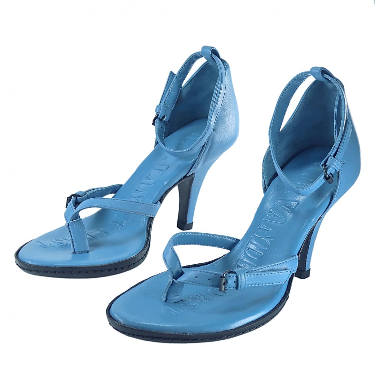 A.f.vandevorst - Sandales   pour femme en cuir - bleu