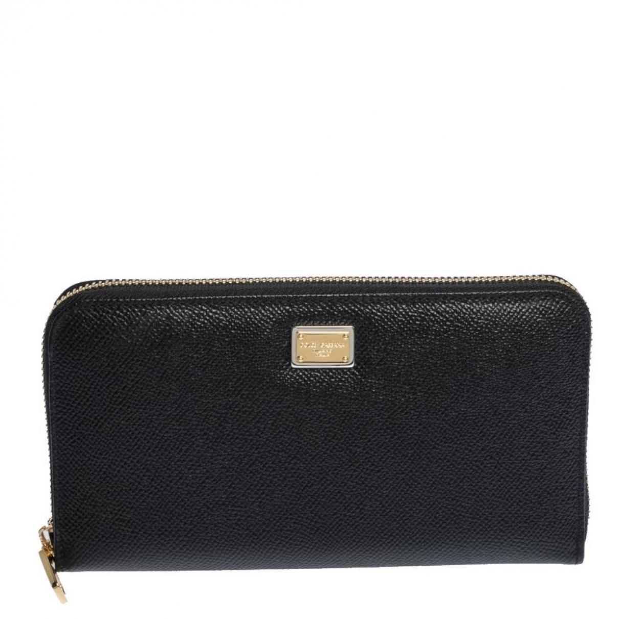 Dolce & Gabbana - Portefeuille   pour femme en cuir - noir