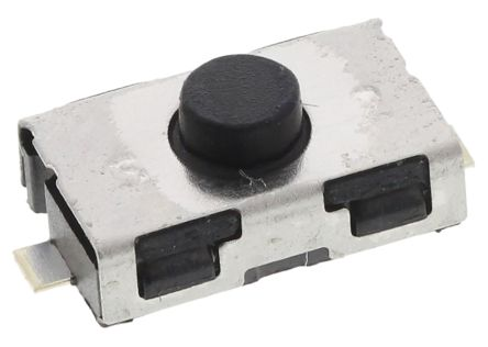 C & K Button Tactile Switch, NO 50 mA @ 32 V dc 0.8mm (10)