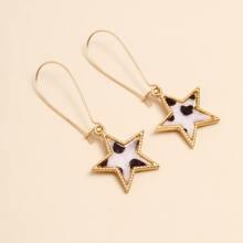 Star Decor Drop Earrings