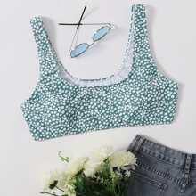 Plus Dalmatian Bikini Top