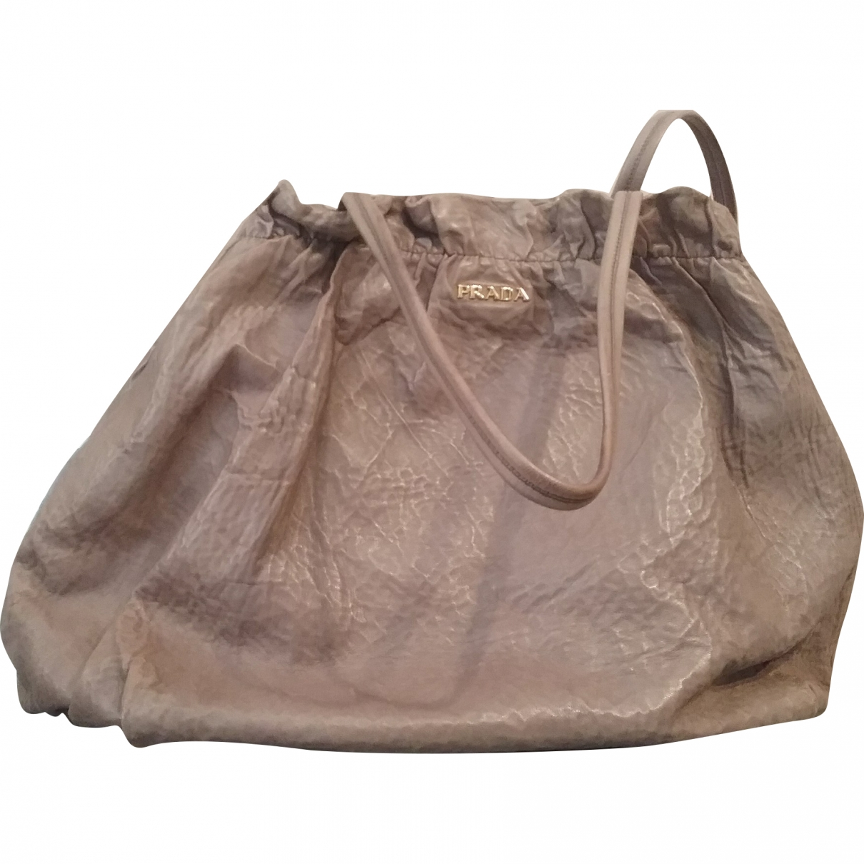 Prada \N Grey Leather handbag for Women \N