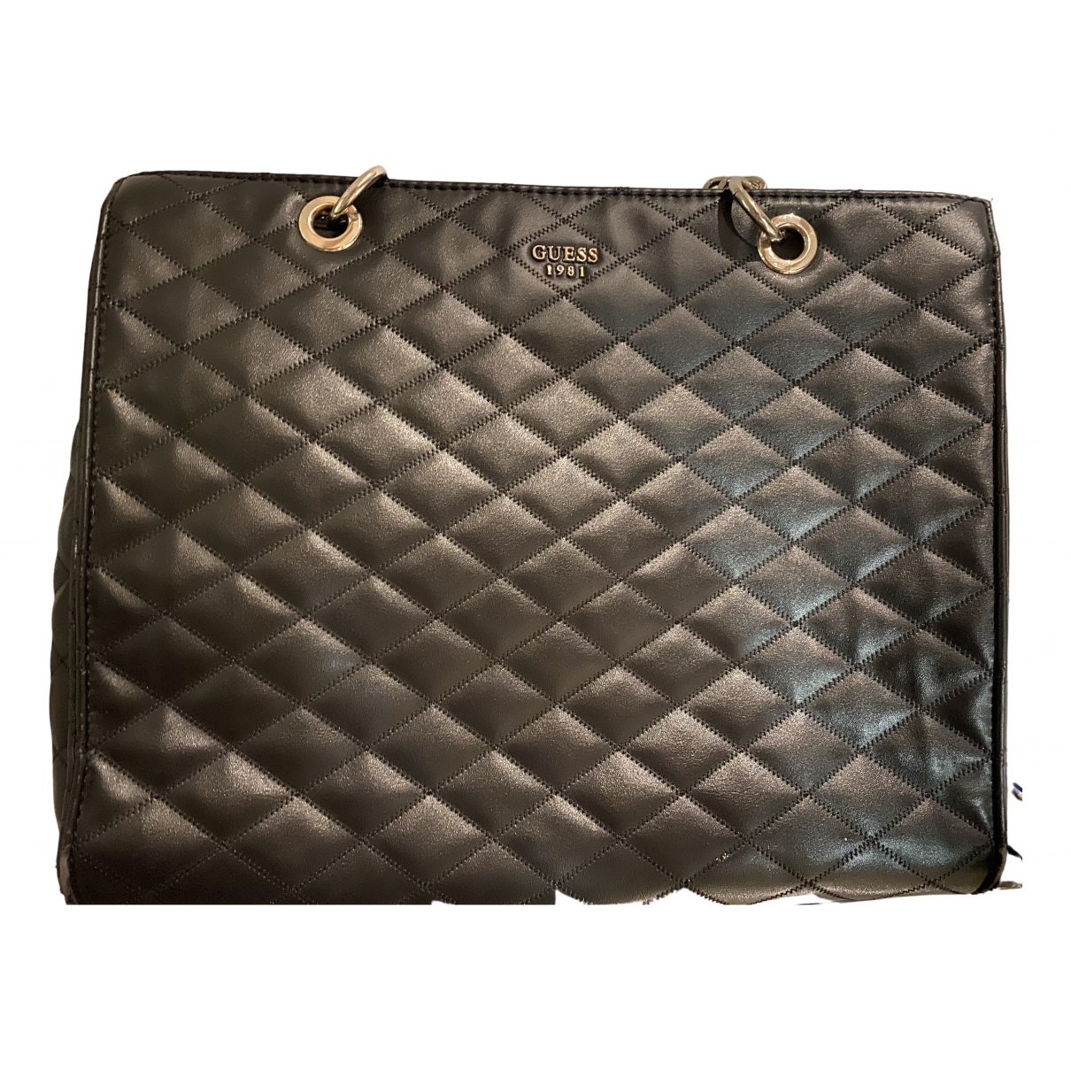 Guess N Black Leather handbag for Women N