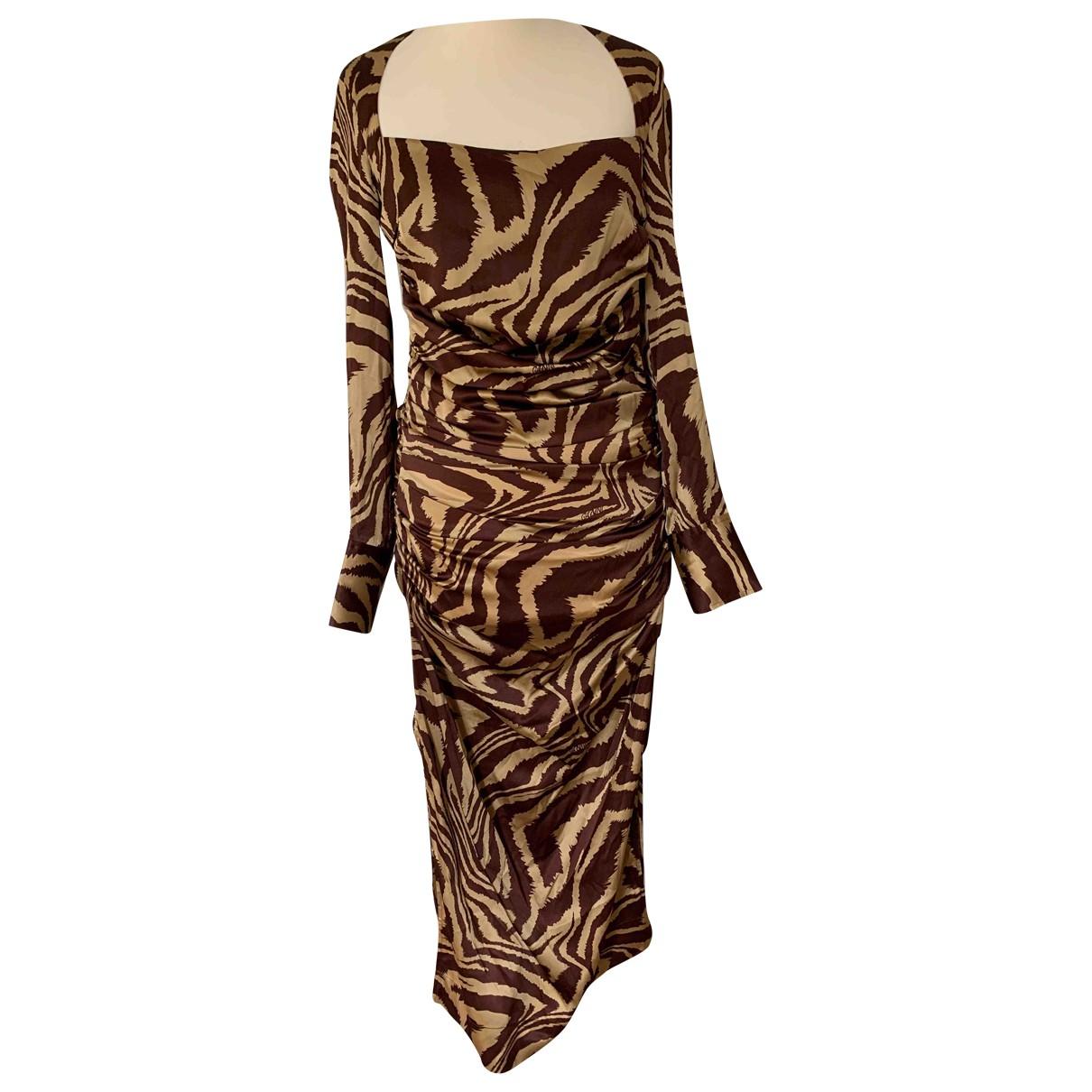 Ganni - Robe Spring Summer 2020 pour femme en soie - multicolore