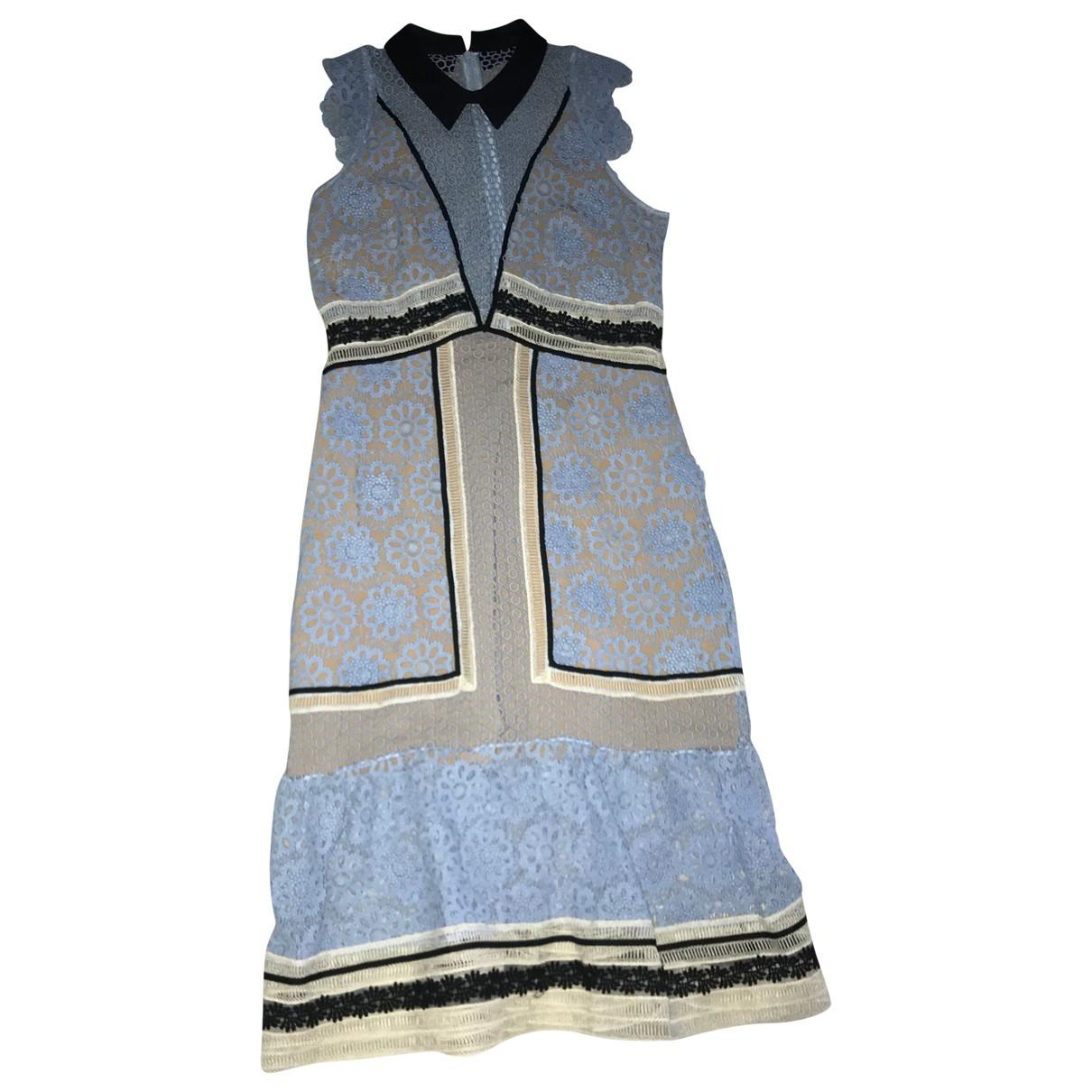 Self Portrait \N Blue dress for Women 14 UK