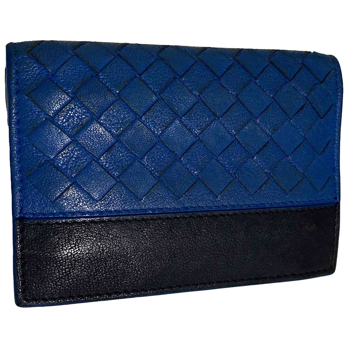 Bottega Veneta - Petite maroquinerie Intrecciato pour femme en cuir - bleu