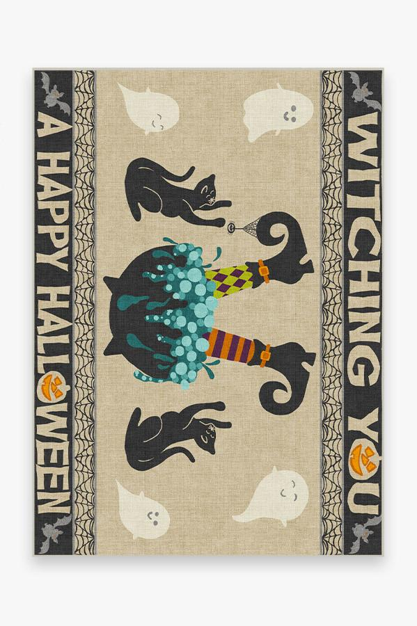 Washable Rug Cover & Pad | Witches Brew Rug | Stain-Resistant | Ruggable | 5'x7'