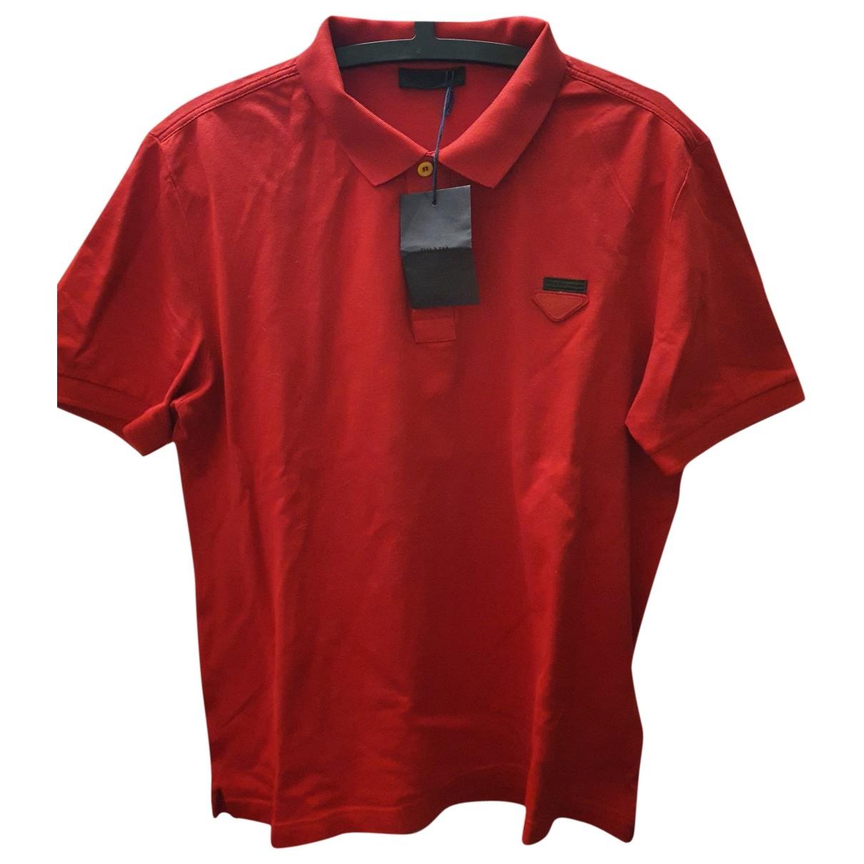 Polo en Algodon Rojo Prada