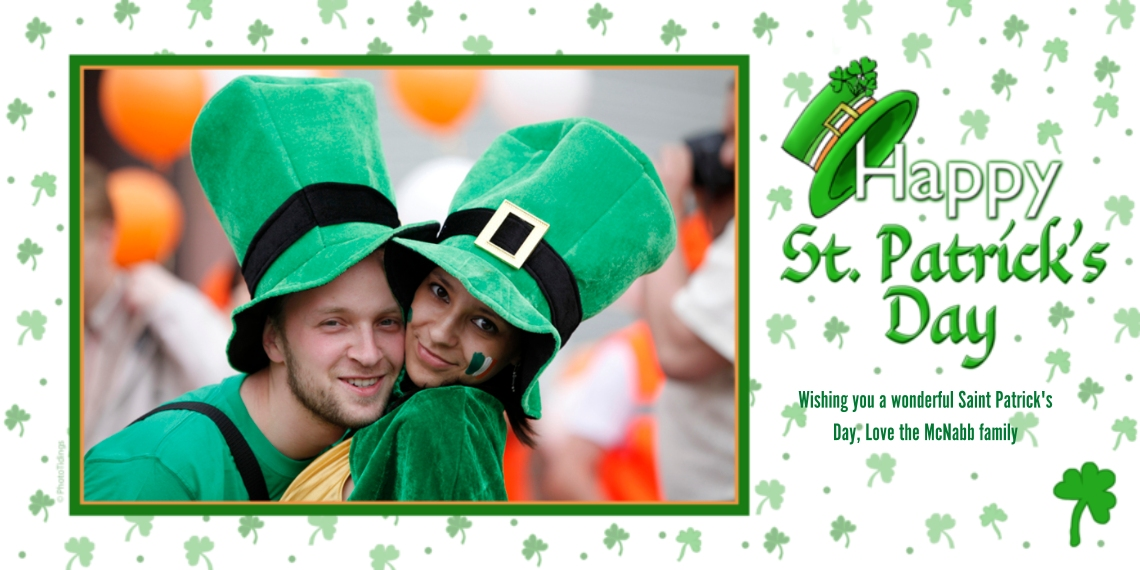 St. Patrick's Day Cards Flat Matte Photo Paper Cards with Envelopes, 4x8, Card & Stationery -Whimsical Irish Hat