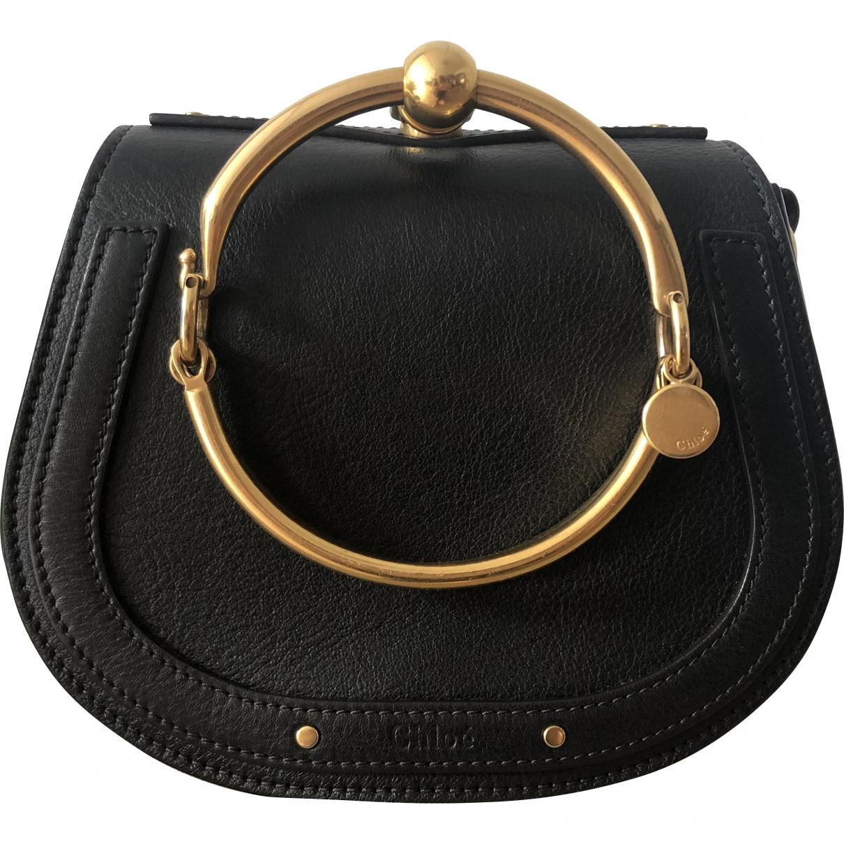 Chloe - Sac a main Bracelet Nile pour femme en cuir - noir
