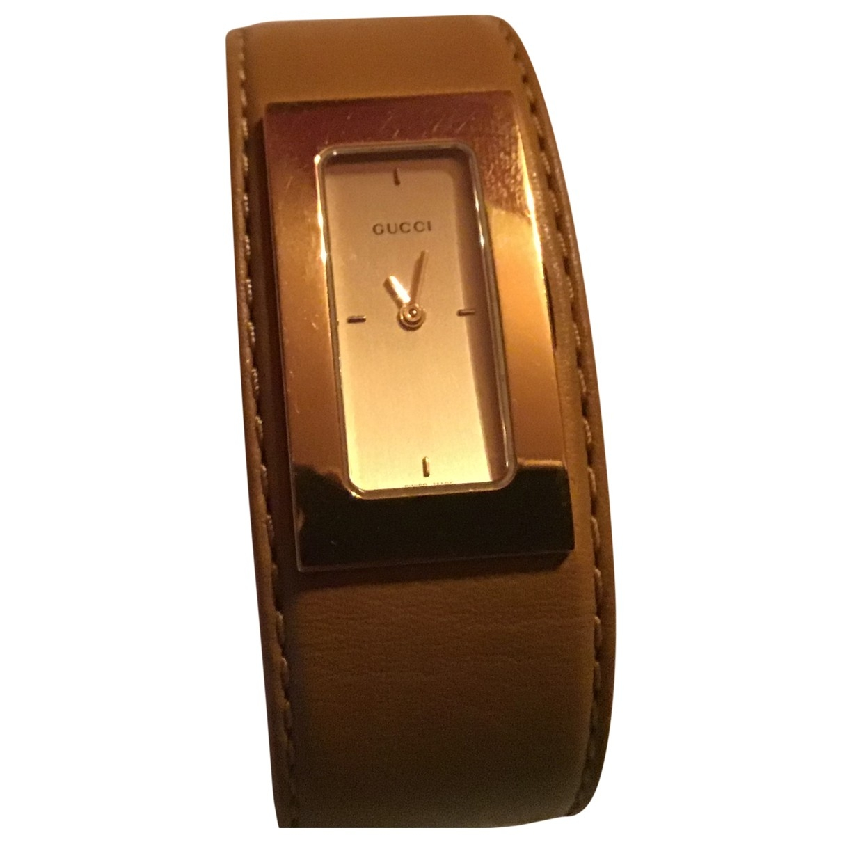 Gucci G-Timeless Camel Steel watch for Women \N
