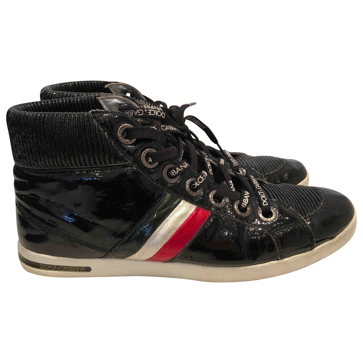 Dolce & Gabbana \N Black Patent leather Trainers for Men 44 EU