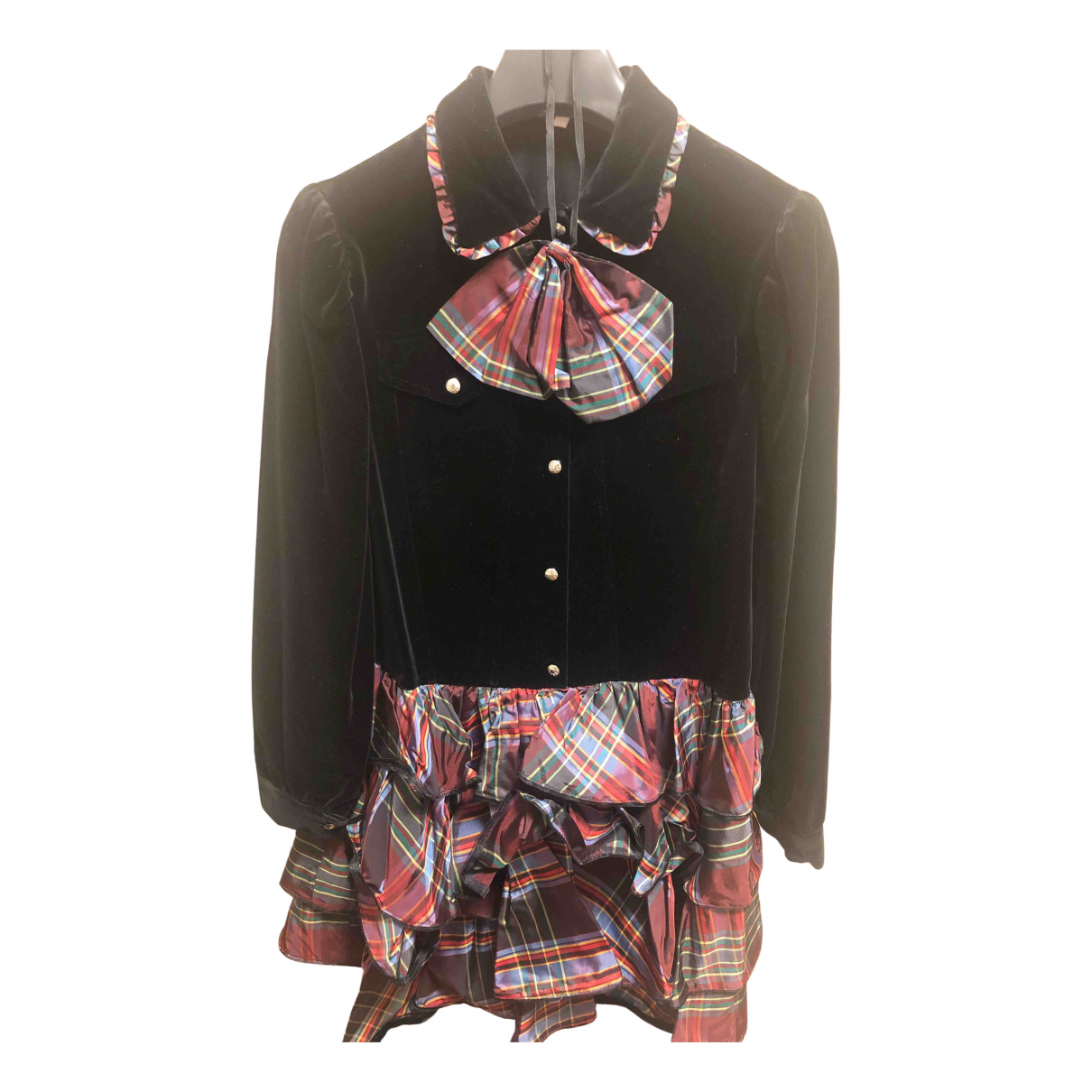 Moschino N Black Velvet dress for Women 42 IT