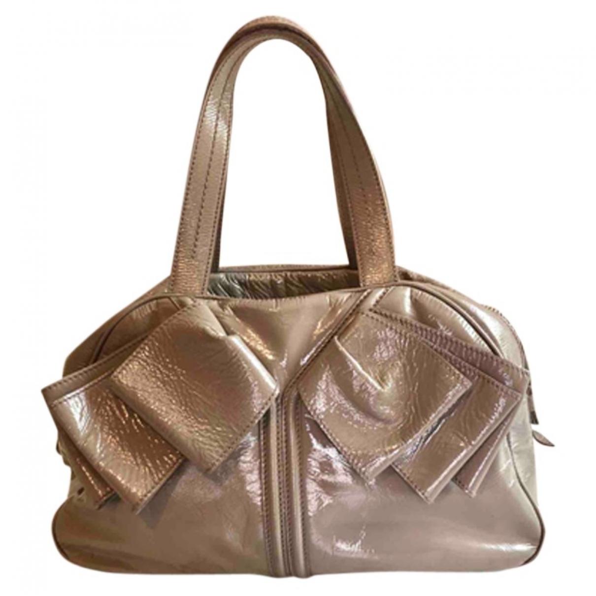 Saint Laurent Cabas Rive Gauche Grey Patent leather handbag for Women \N