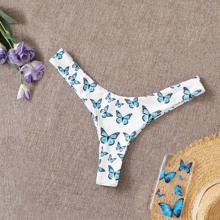 Bragas bikini con estampado de mariposa