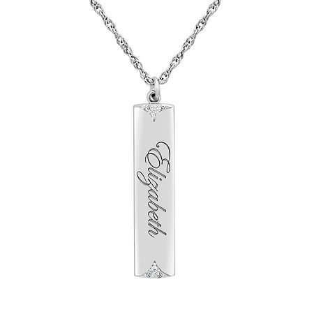 Womens Diamond Accent Genuine White Diamond 10K Gold Round Pendant Necklace, One Size , No Color Family