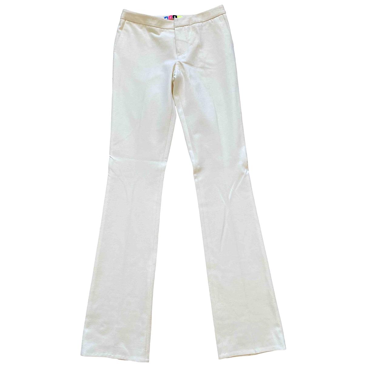 Msgm \N Beige Trousers for Women 40 IT