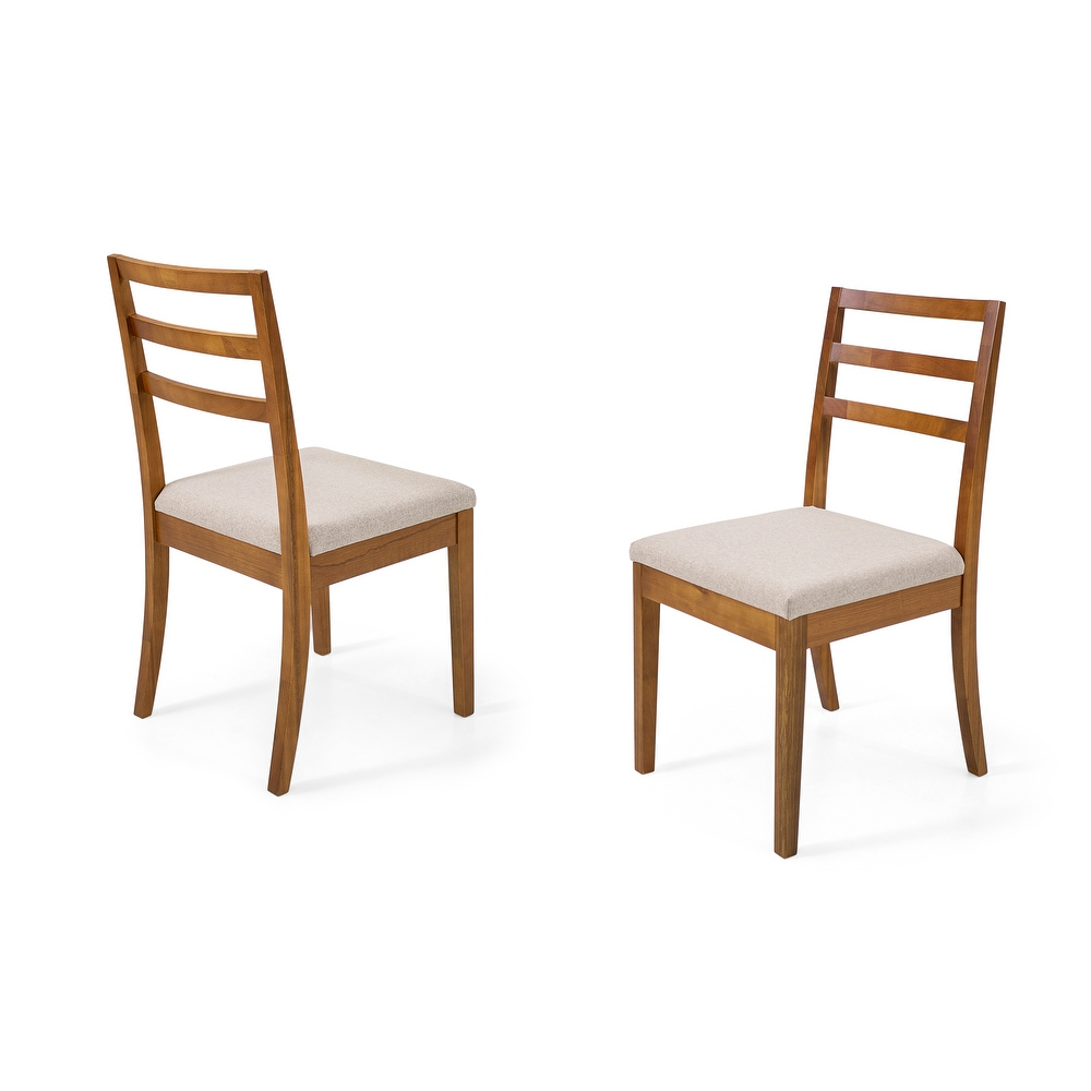 Dining Chair Herval, Ladder-Back, Solid Wood, Set of 2 (Single - Oak - Dining Height)