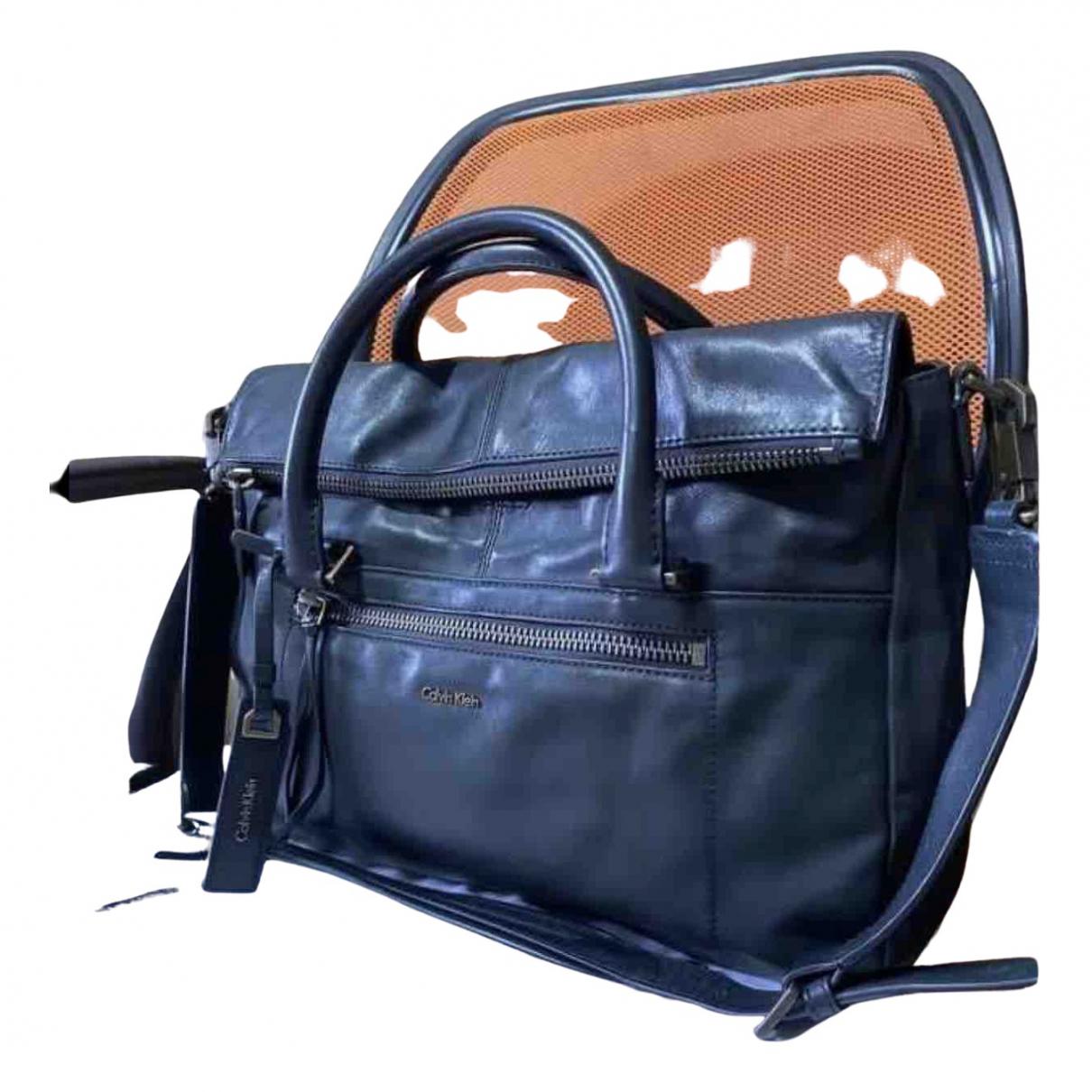 Bolso de viaje de Cuero Calvin Klein