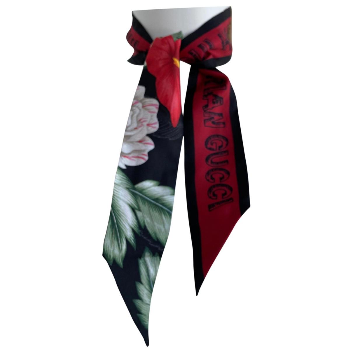 Gucci N Black Silk scarf for Women N