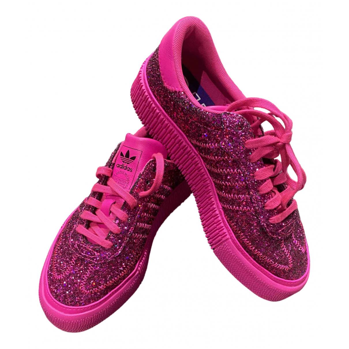 Adidas \N Pink Glitter Trainers for Women 37.5 EU