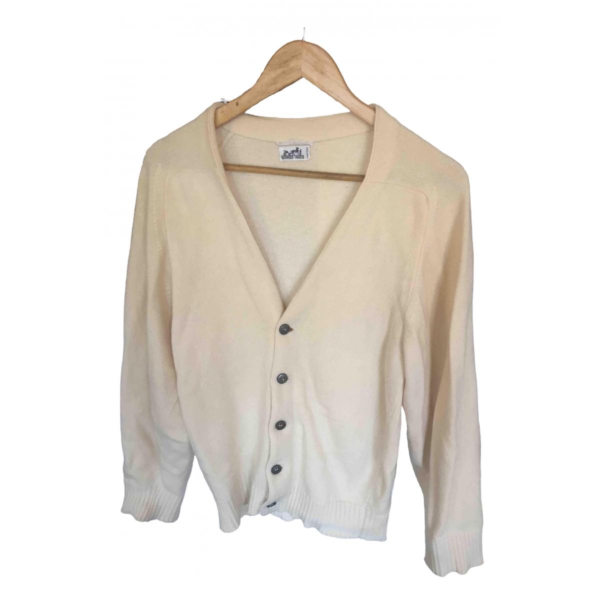 Hermès \N Ecru Cashmere Knitwear for Women 46 FR