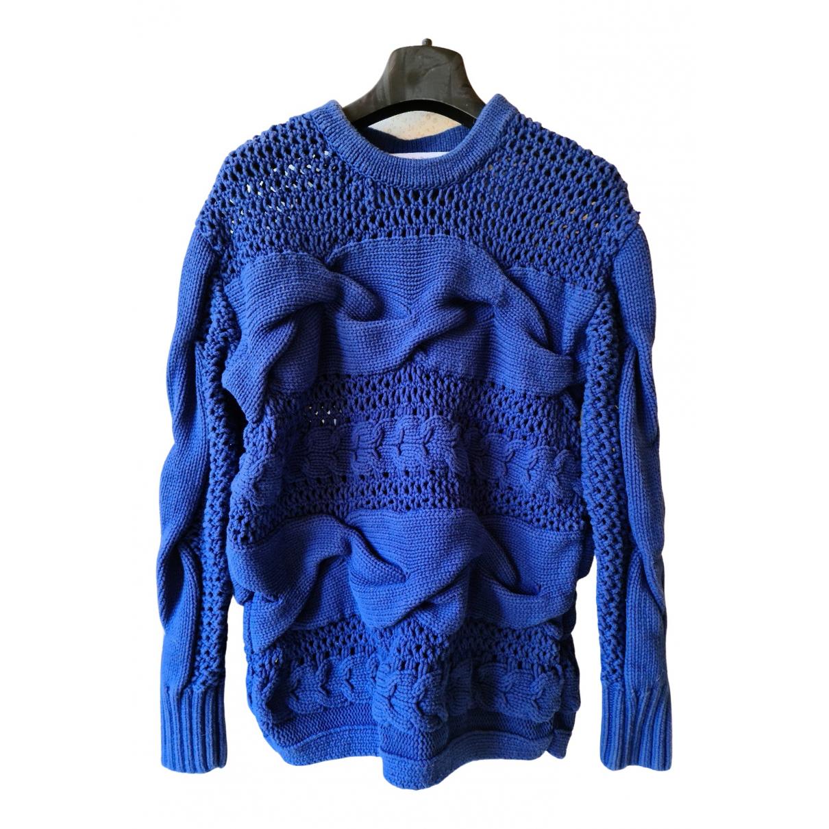 & Other Stories - Pull   pour femme en coton - bleu