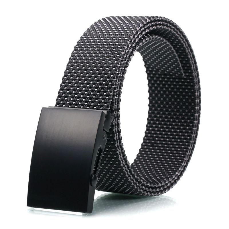 AWMN 120cm Tactical Belt Nylon Waist Belts Alloy Buckle Casual Waistband