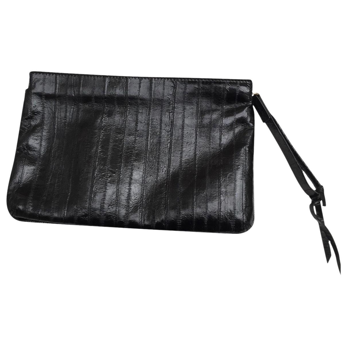 Givenchy - Pochette   pour femme en cuir exotique - noir