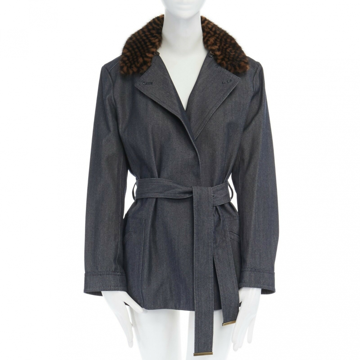 Louis Vuitton \N Jacke in  Blau Wolle