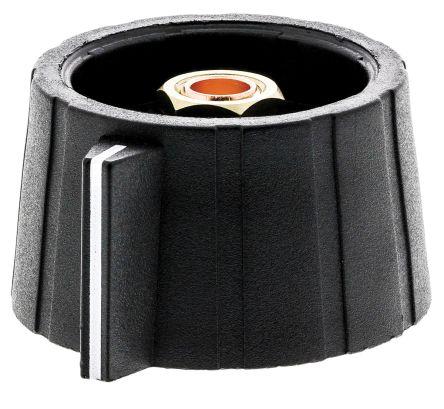 Sifam Potentiometer Knob, Collet Type, 29mm Knob Diameter, Black, 6mm Shaft (10)