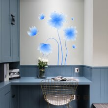 1set Flower Print Wall Sticker
