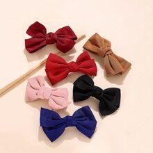 6pcs Bow Fabric Hair Clip
