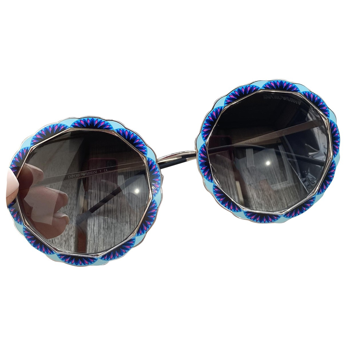 Emporio Armani - Lunettes   pour femme en metal - bleu