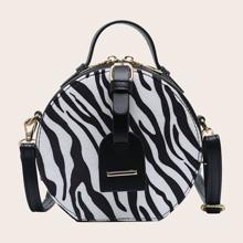Zebra Striped Pattern Box Bag