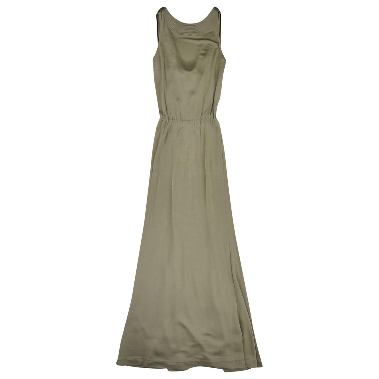 Bottega Veneta \N Kleid in  Khaki Viskose