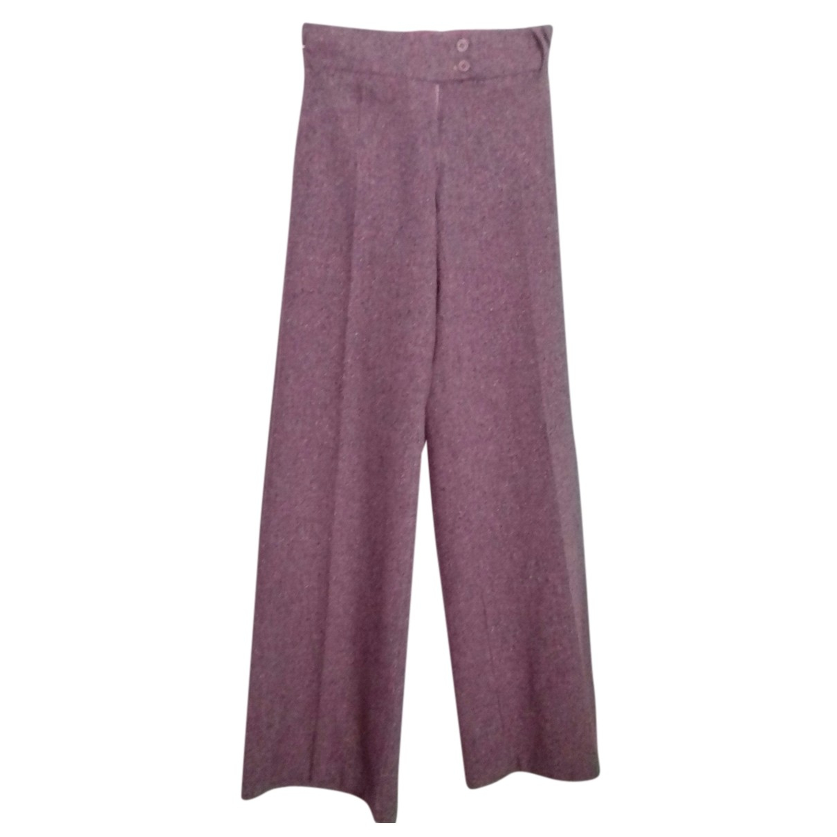 Impérial N Purple Wool Trousers for Women S International