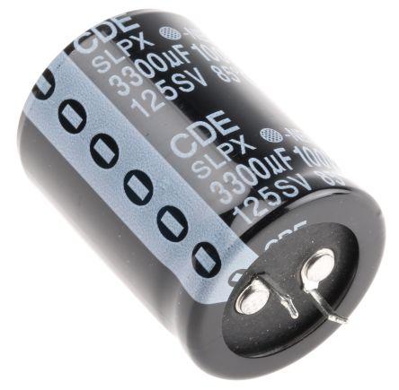Cornell-Dubilier 3300?F Electrolytic Capacitor 100V dc, Through Hole - SLPX332M100E7P3