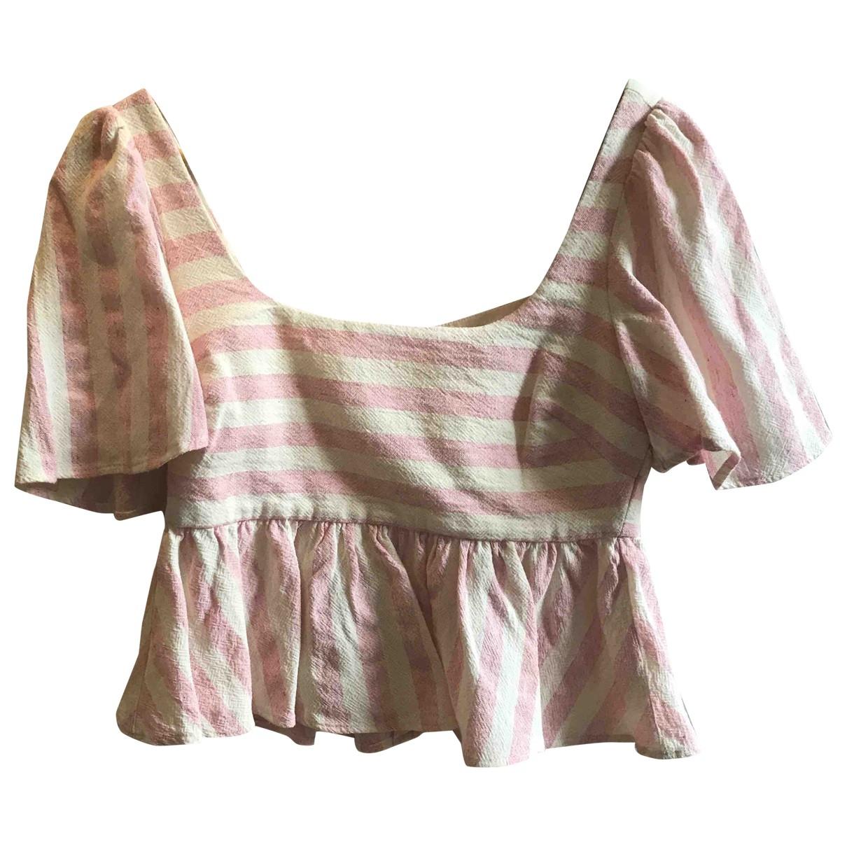 Zara \N Hemden in  Rosa Leinen