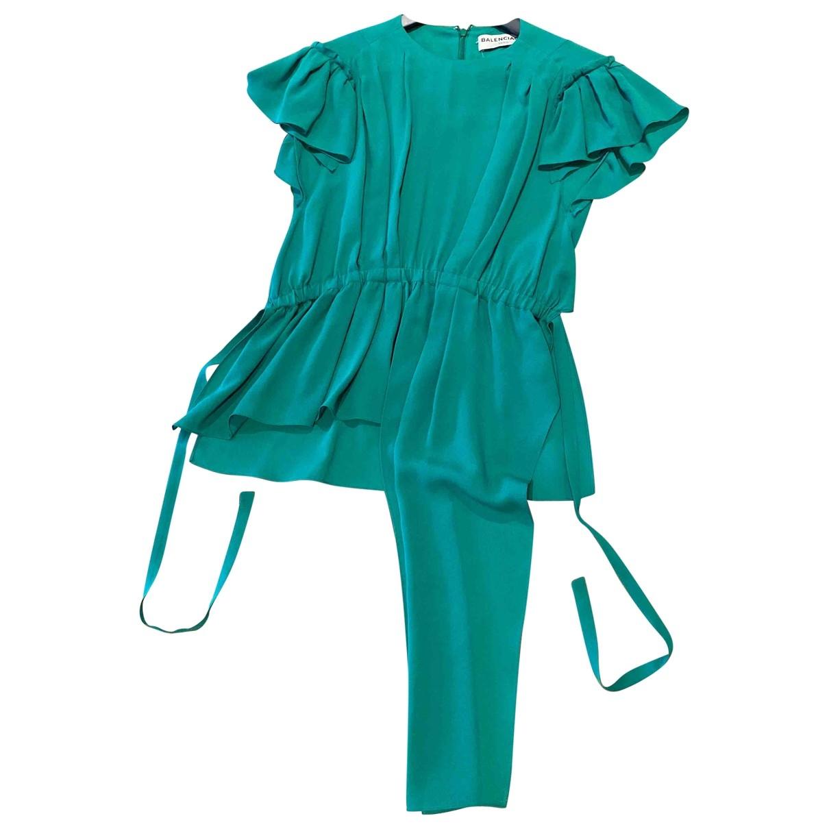 Balenciaga \N Green Silk  top for Women 34 FR