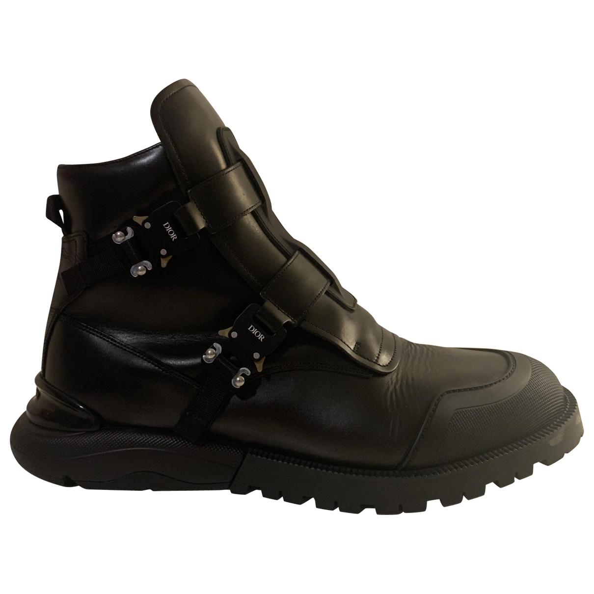Dior Homme \N Black Leather Boots for Men 45 EU