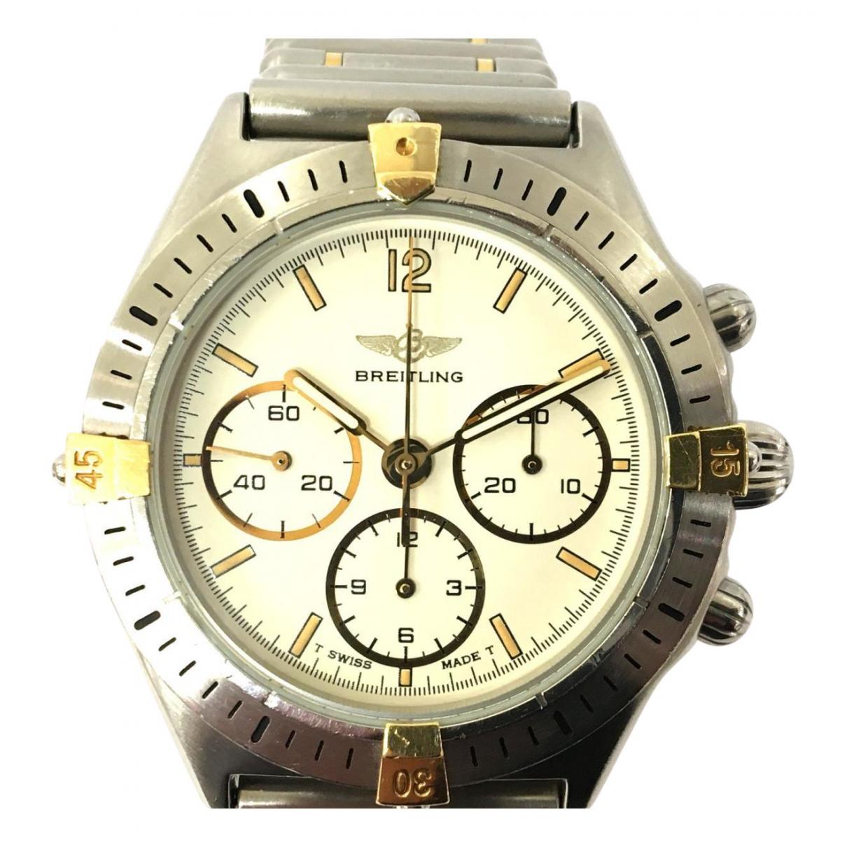 Breitling \N Uhr in  Silber Gold und Stahl