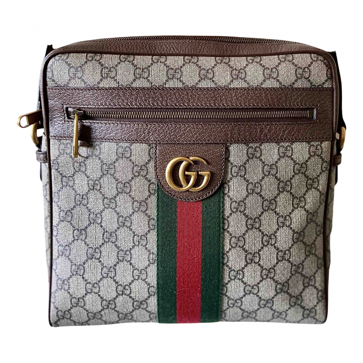 Gucci Ophidia Handtasche in  Beige Leinen