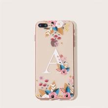 Flower & Letter Pattern iPhone Case